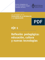 Eje 1- Reflexión pedagógica