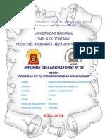 INFORME N°04 LABORATORIO MAQUINAS ELECTRICAS
