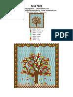 Pattern - Peyote - Fall Tree