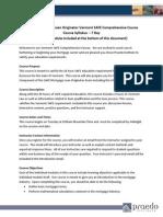 Syllabus SAFE 20 Hour Vermont Comprehensive PE Revised 2014