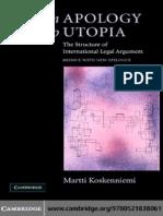 Martti Koskenniemi - From Apology to Utopia