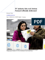 Biz Break- PC Industry Hits Rock Bottom as Hewlett-Packard Officially Dethroned