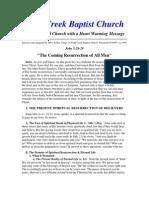 The Coming Resurrection of All Men, Pastor Steve Felkneer