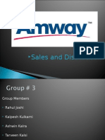 Distribution of Amway