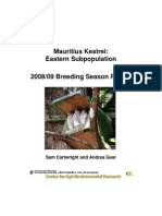 JR Boulle Saving the Mauritius Kestrel Report 2008-09