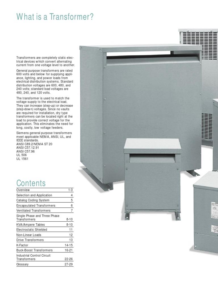 Siemens Dry transformer | Transformer | Inductor