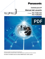 Manual de Usuario Central Pura Ip Panasonic KX-TDE100 KX-TDE200