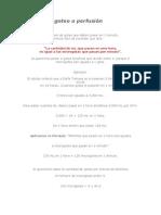 Cálculo del goteo o perfusión