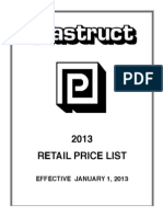2009 Retail Price Lists f