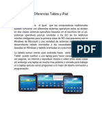 Diferencias Tables y iPad