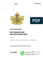 Cadet Officer Basic Officer Training Course Student Reference Manual