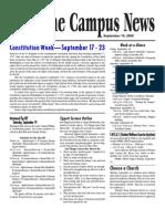 FWBBC Campus News 9/18/09