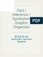 Fact/Inference/Symbolism Graphic Organizer