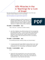 Scientific Miracles in the Prophetic Teachings for a Cure of Anger