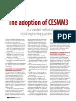 The adoption of CESMM3