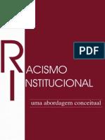 Racismo Institucional Uma Abordagem Conceitual1