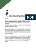 LA DECLARACIÓN DE MAANSHAN - TAIJIQUAN