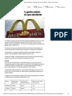 CEO do McDonald's ganha salário 1
