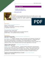 Resume 2014 MaeMarieGuerra