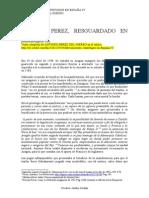 Antonio Pérez del Hierro- Capítulo VI