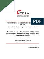 CERA - PL creac. Programa Nac. Construcción y Difusión Huella de Carbono