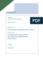 Indice de Contenidos Ortografia de La Lengua Espanola
