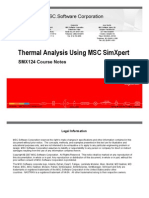 Thermal Analysis Using MSC SimXpert R3.2 Course Notes
