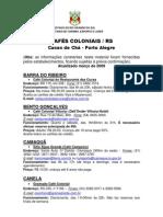 Cafes Coloniais 2009