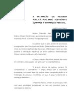 A INTIMAÇÃO DA FAZENDA PÚBLICA POR MEIO ELETRÔNICO