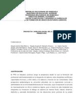Programa y Plan Academico de Proyecto I Locman Agelvis