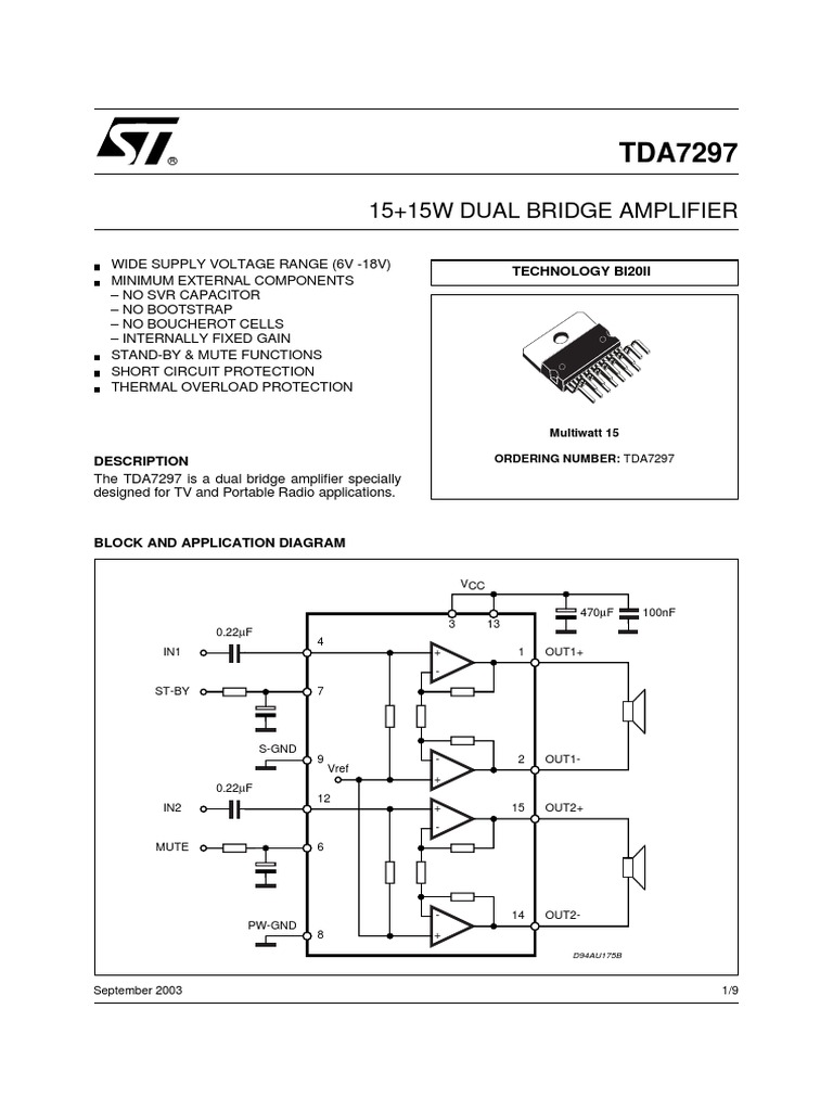 Tda 7297 Amplifier Electronic Engineering Tda7560 Car Circuit Wiring Diagram Must Know