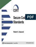 Cert Secure Coding Standards