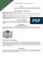 Bulletin for January 12-2014