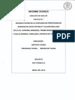Estudio de Mecanica de Suelos Av. Coronel Mendoza