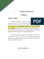 COMISIÓN DE REFORMA DE ESTADO
