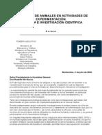 Ley Experimentacion Animales Uruguay