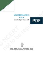 cbse class 12 math ncert contents