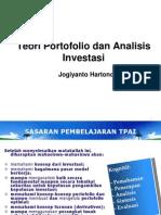 Teori Portofolio Dan Analisis Investasi