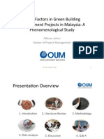 Presentation on Delay Factors in Green Building Projects in Malaysia