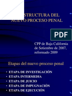 La Estructura Del Nuevo Proceso Penal -Baja California Marzo 08