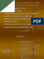 Los Ocho Pasos Esenciales Para La Resolucion de Conflictos.