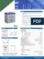 PS-1250 (Batería 12 V) - Datasheet
