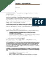 Cuestionario de Lenguaje de Programacion