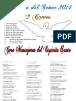 Bautismo del Señor 2014. 12 Cantos. Coro Mensajeros del Espíritu Santo.pdf