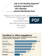 Workshop on BFSI in India at MTL Manipal 10012014