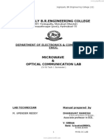 Microwave Lab Manual