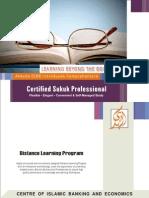 Distanc Learning Program on Certified Sukuk Professional