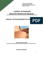 Manual de Procedimientos Aduaneros Ajustado 26-05-09