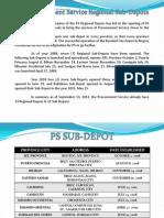 Ps Regional Sub Depots