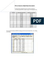 Simple Regression With SPSS